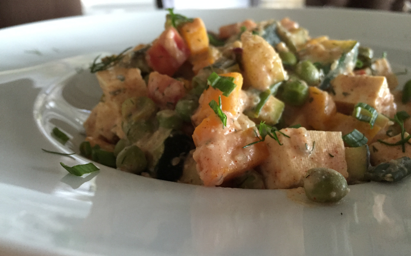 Moroccan Tofu With Vegetables in a Creamy Spiced Sauce