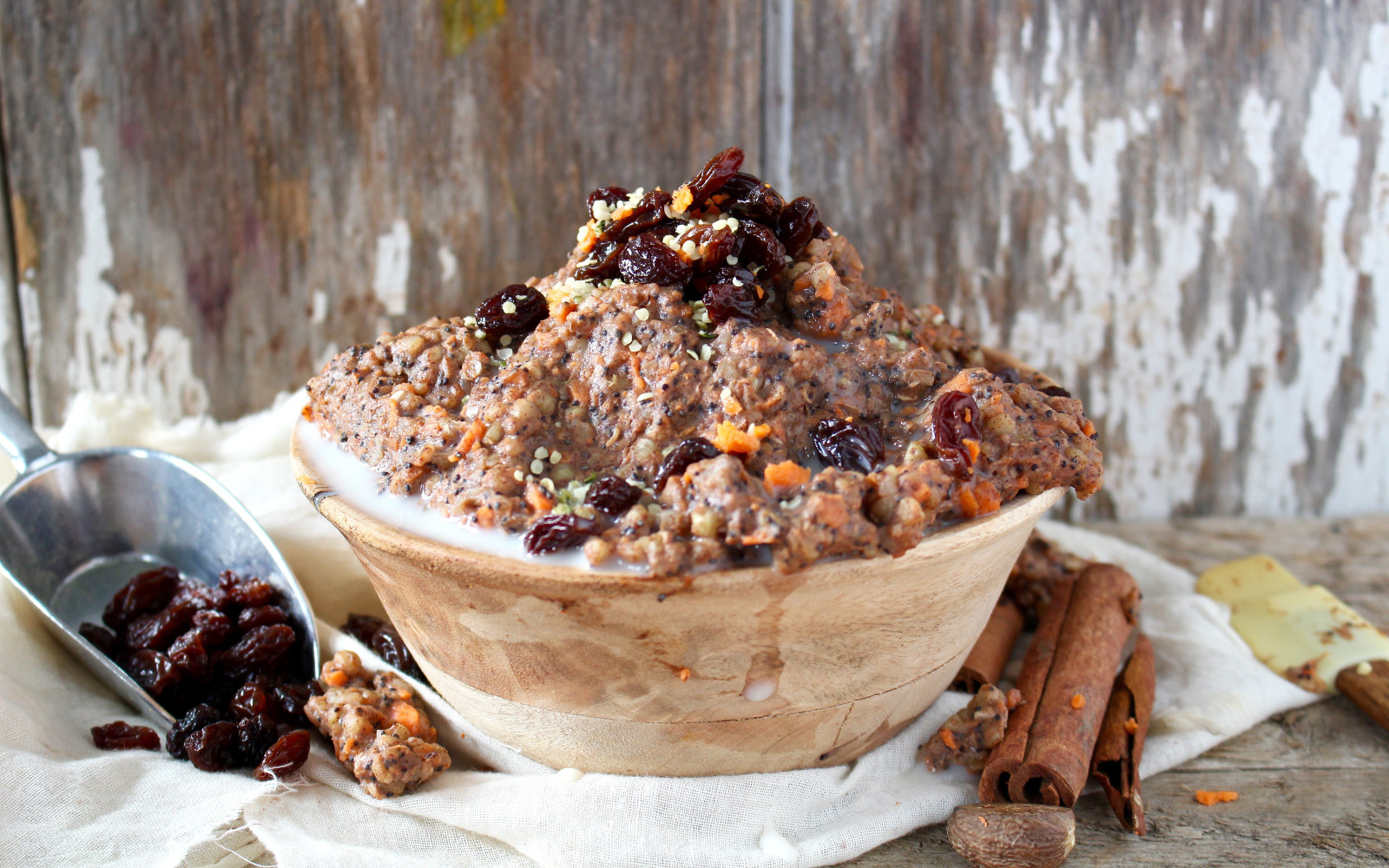 Carrot Poppyseed Buckwheat Porridge