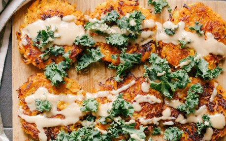 Sweet Potato and Apple Latkes