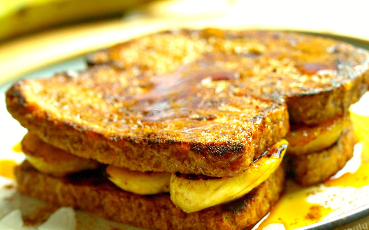 Fried Plantain French Toast Sandwich