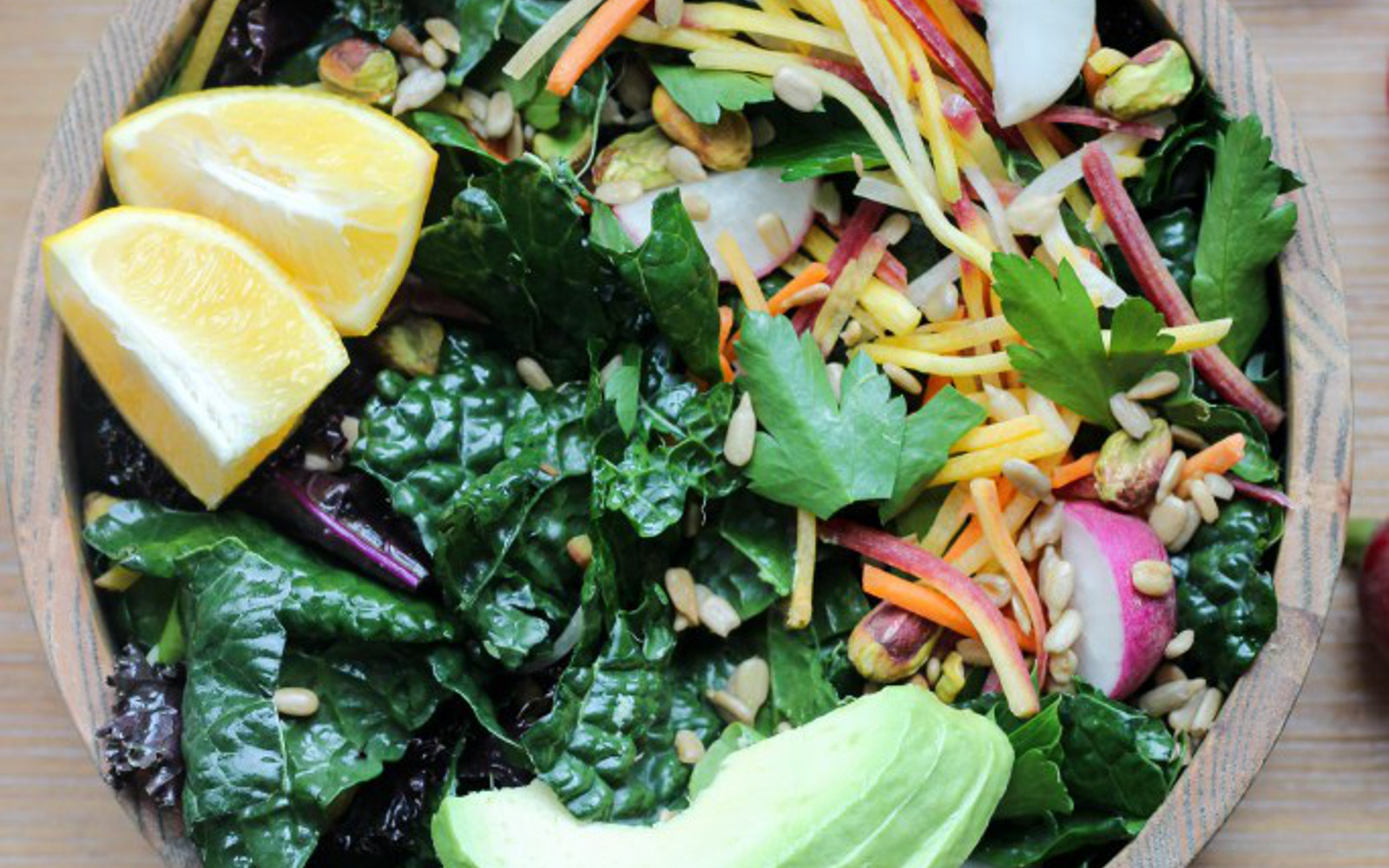 Vegan Spring Salad With Cilantro Tahini Dressing