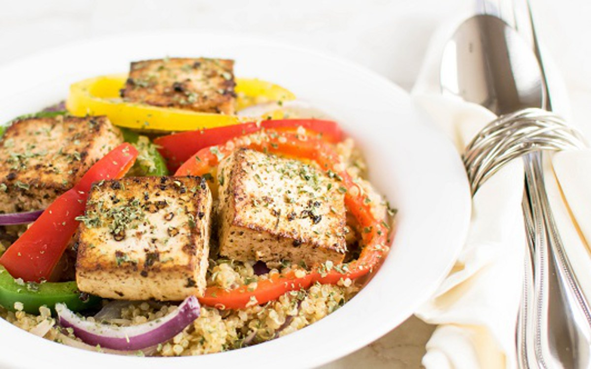 Red wine vinegar tofu with quinoa vegan one green planet forumfinder Image collections