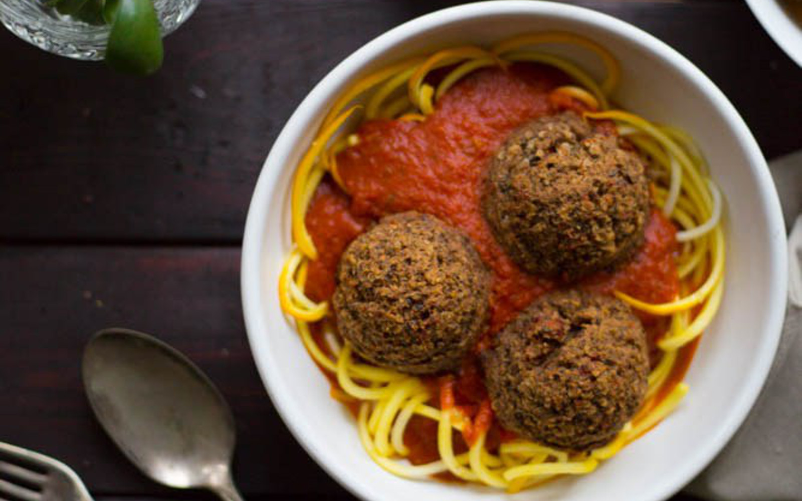 Zucchini Noodles With Spicy Lentil Balls 2