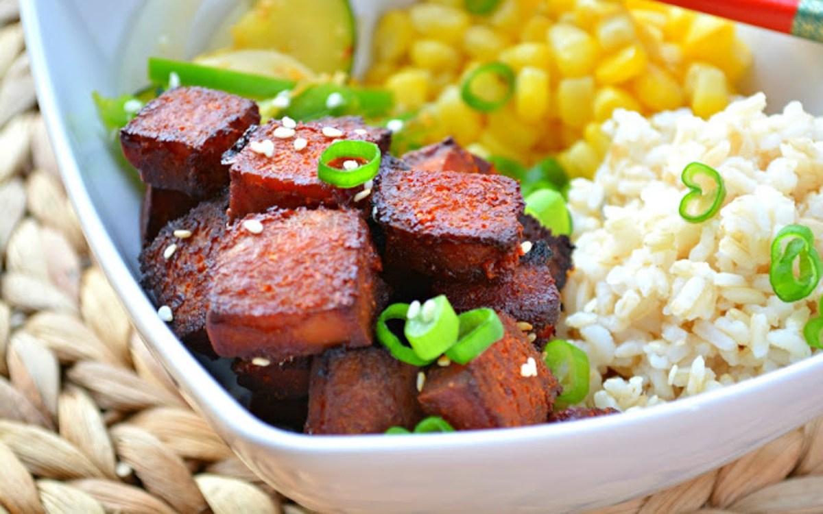 Baked Gochujang Tofu