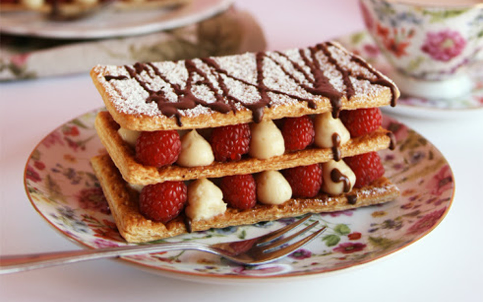 Raspberry Millefeuille With Lemon Pastry Cream