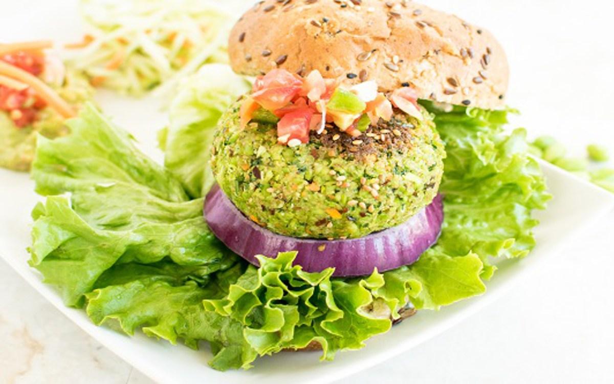 Cilantro Edamame Burger