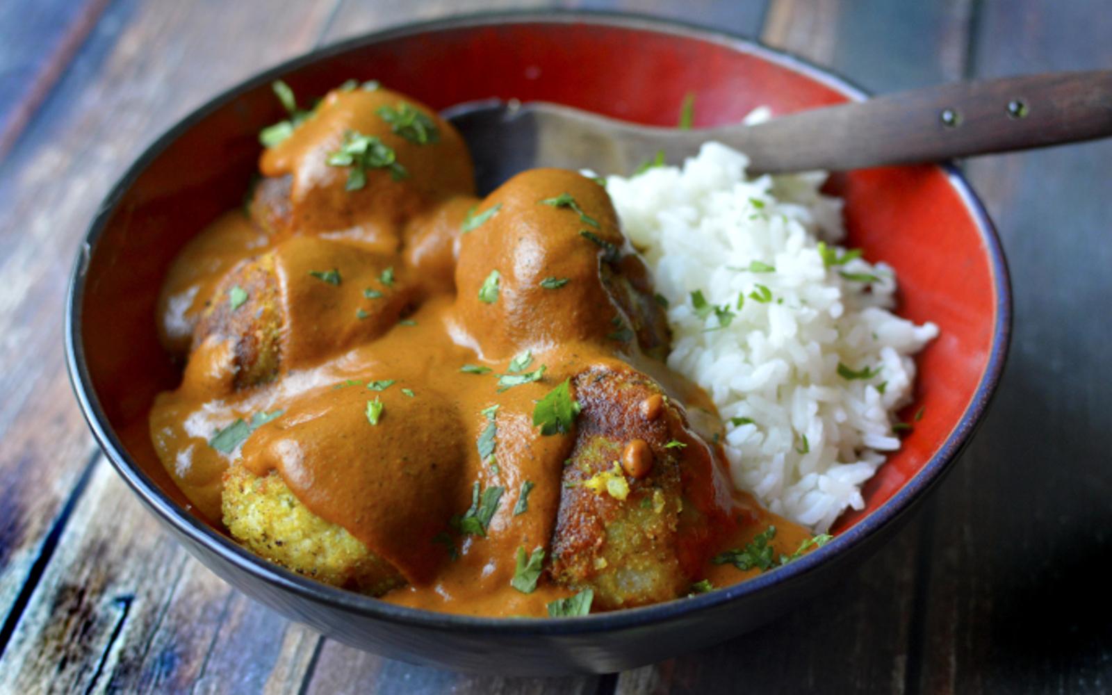 Potato Kofta in Butter Chicken Sauce