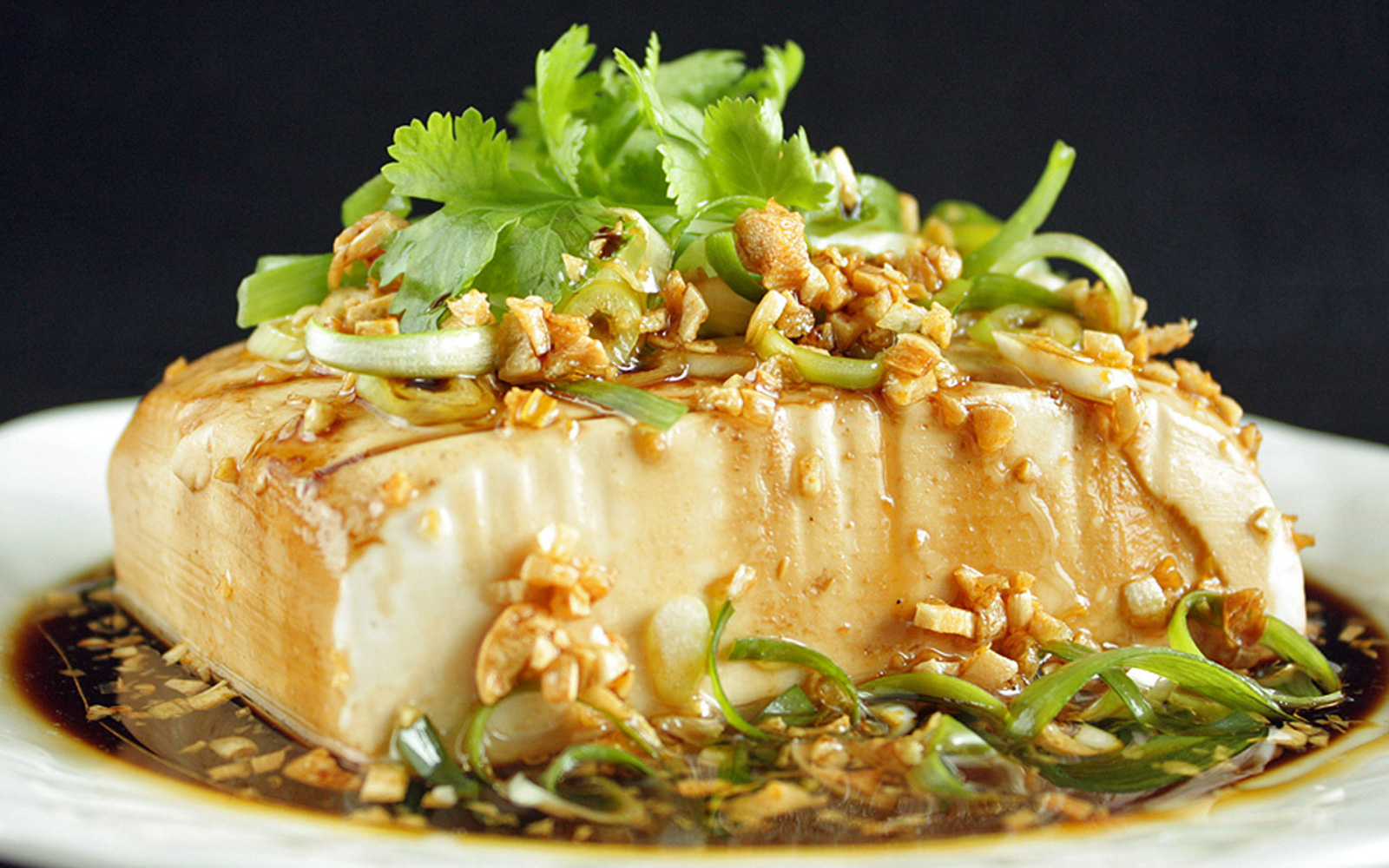 Vegan Chinese Steamed Tofu