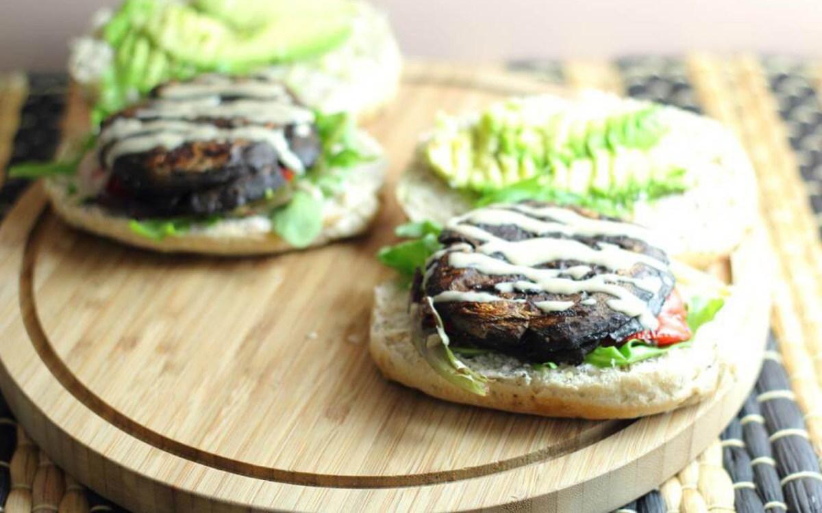 Vegan Whisky Portobello Mushroom Burgers