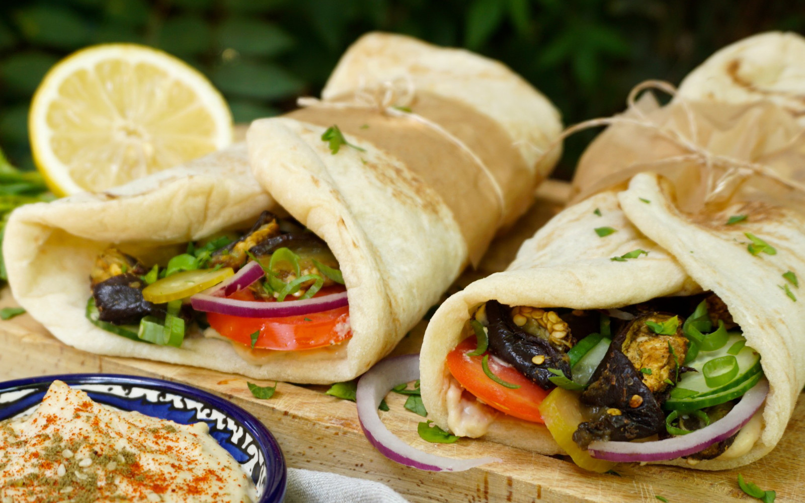 Eggplant Kebab With Tahini Sauce