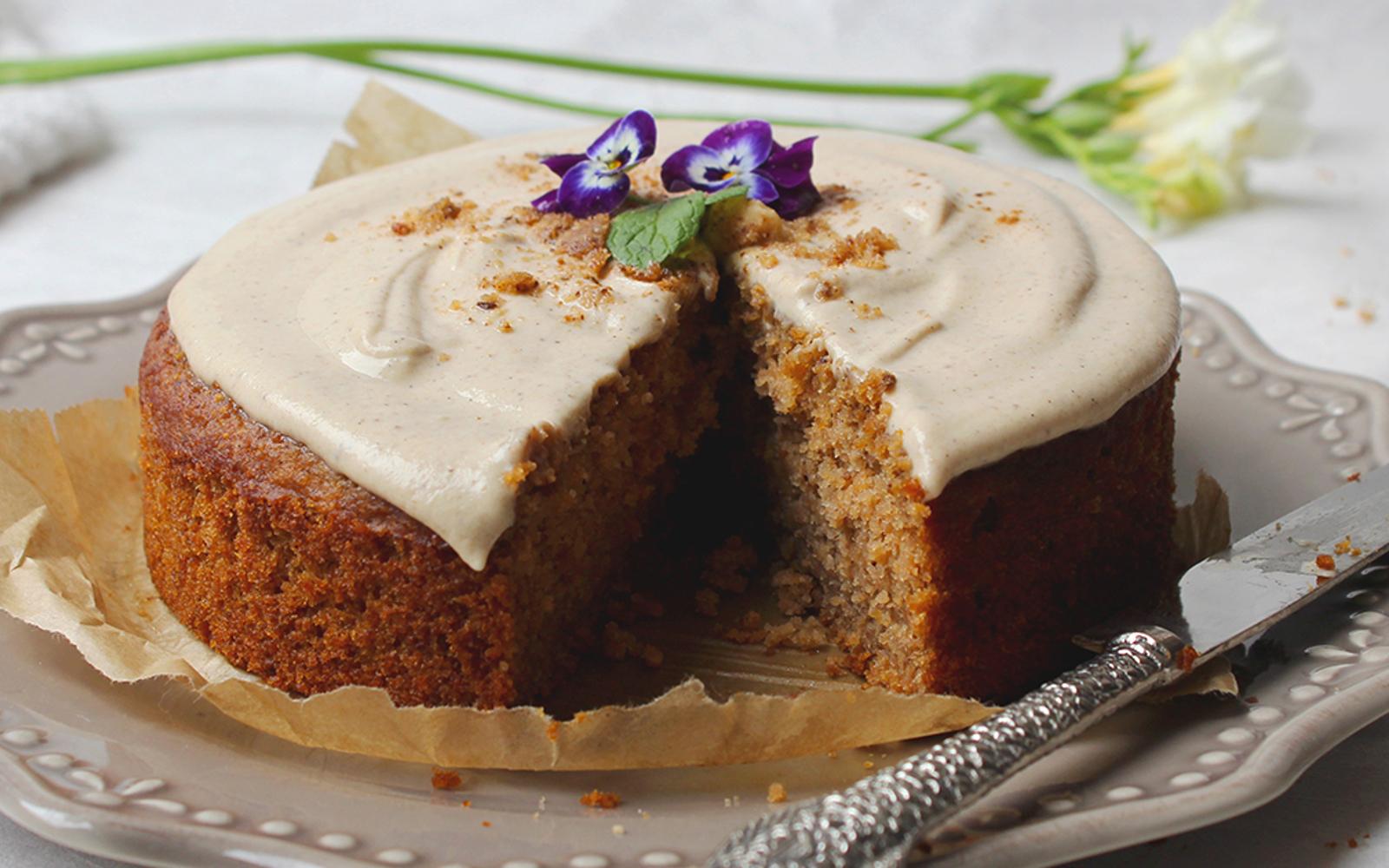 Carrot Cake Made With Buckwheat Flour