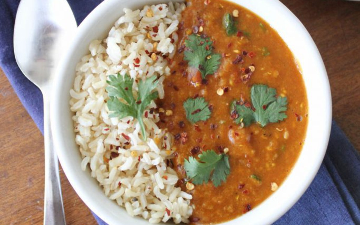 Pressure-Cooker Red Lentil Curry [Vegan] - One Green ...