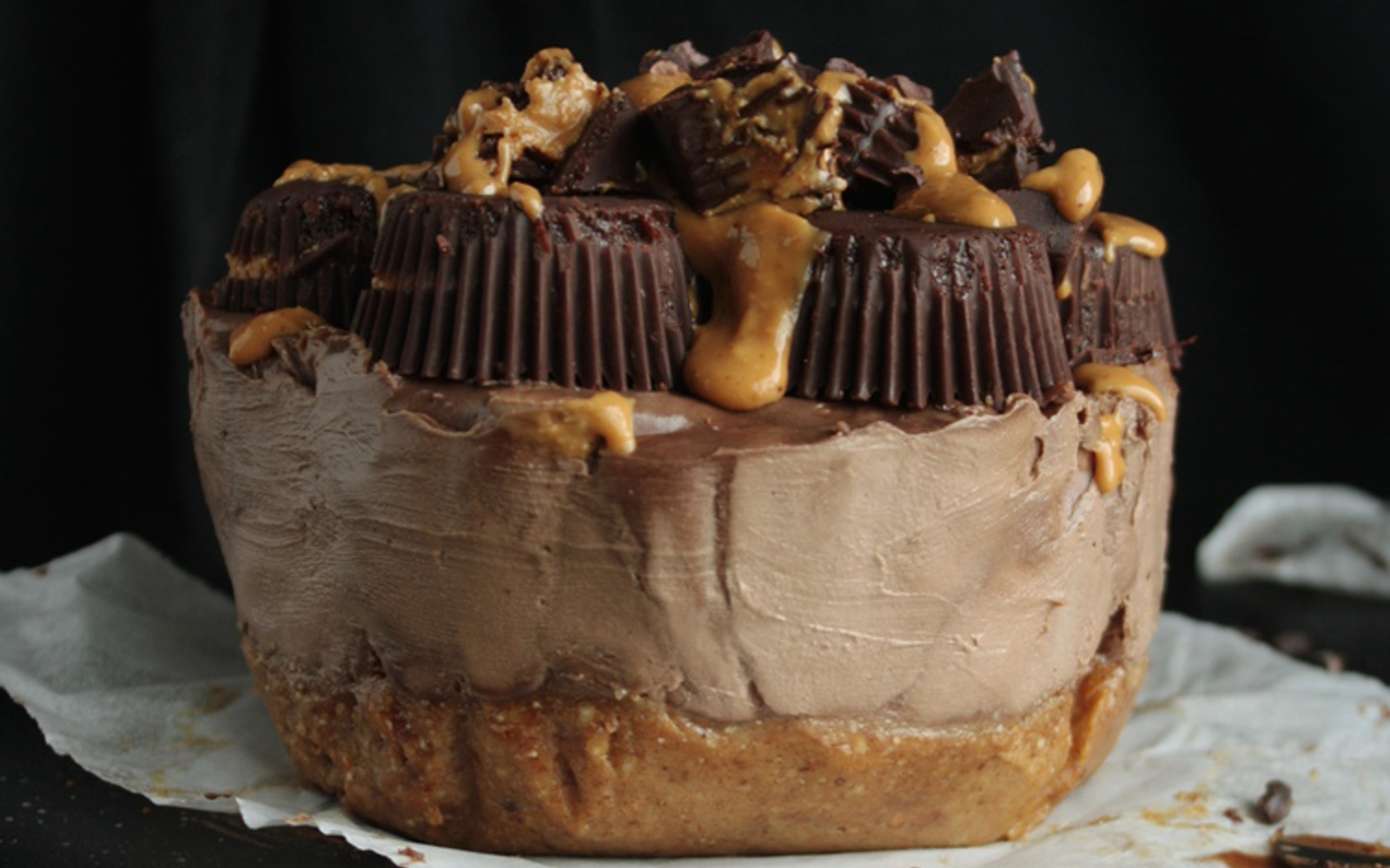 Raw Chocolate Peanut Butter Cheesecake 1