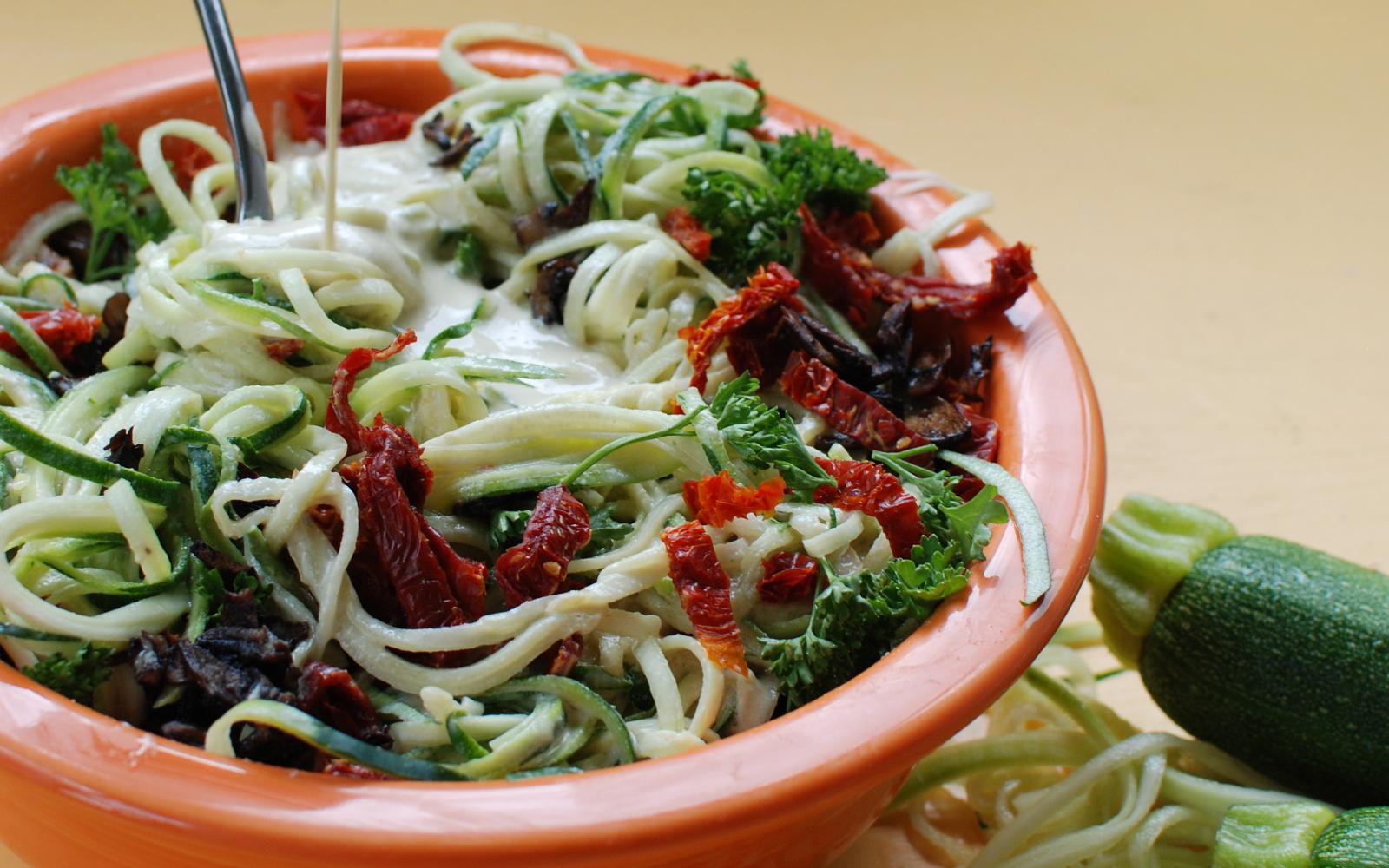 Zucchini Noodle Carbonara 1