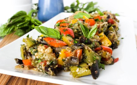Eggplant and Bell Pepper Caponata