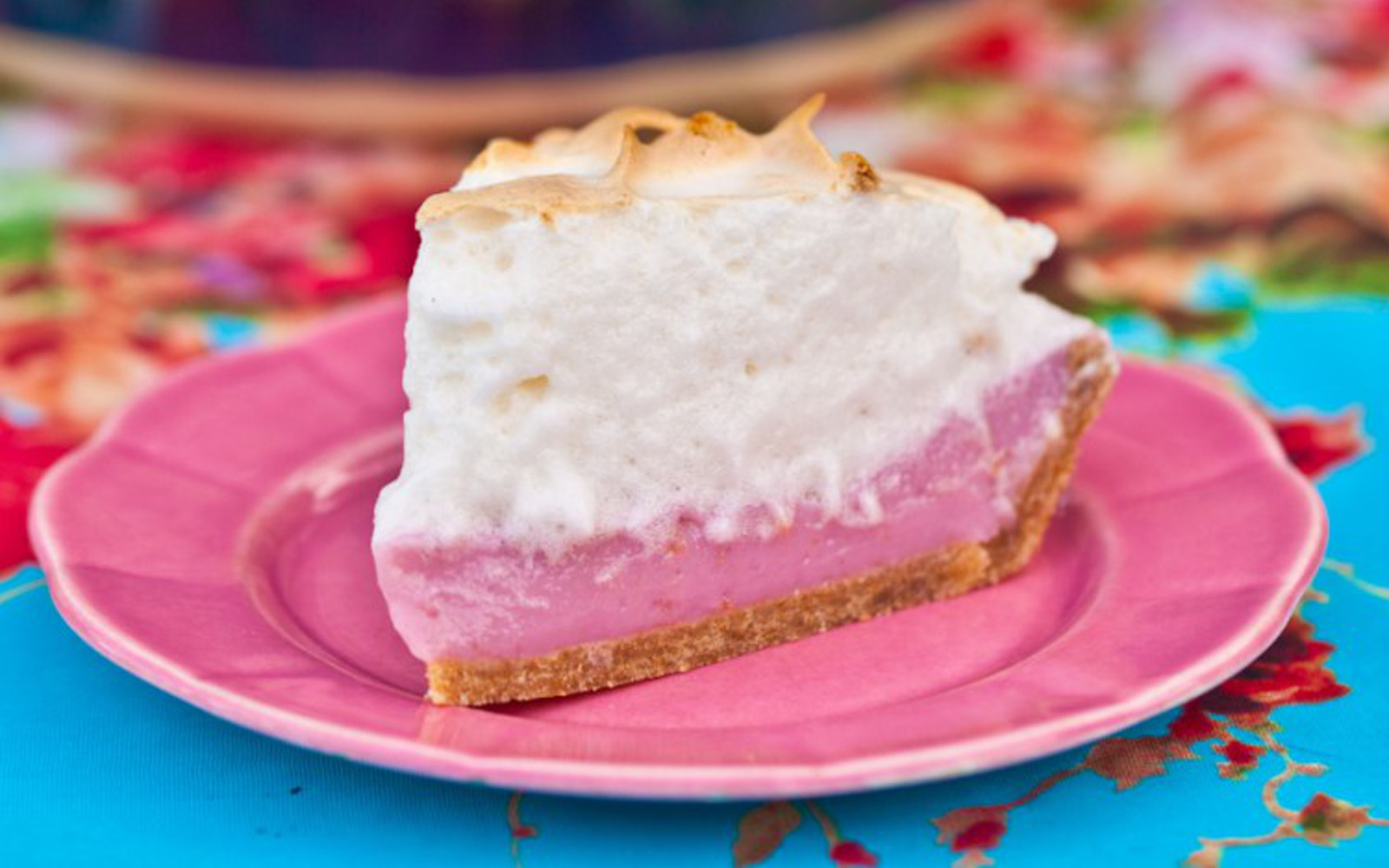 Pink Lemonade Meringue Pie