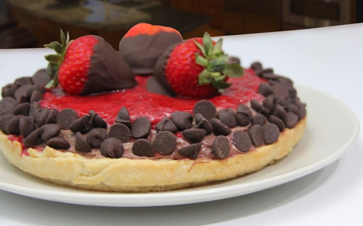 5under5: Chocolate Strawberry Jam Mousse Pie [Vegan] | One Green ...
