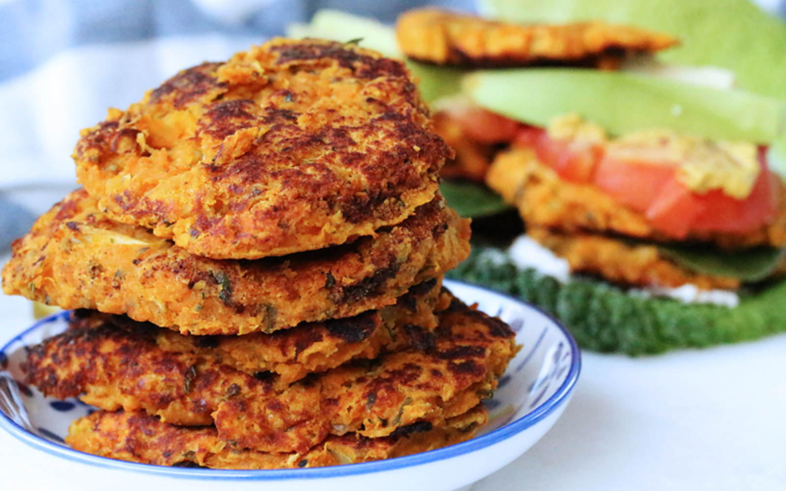 sweet potato bean burgers