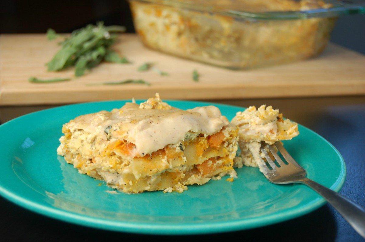 vegan lasagna-butternut squash lasagna