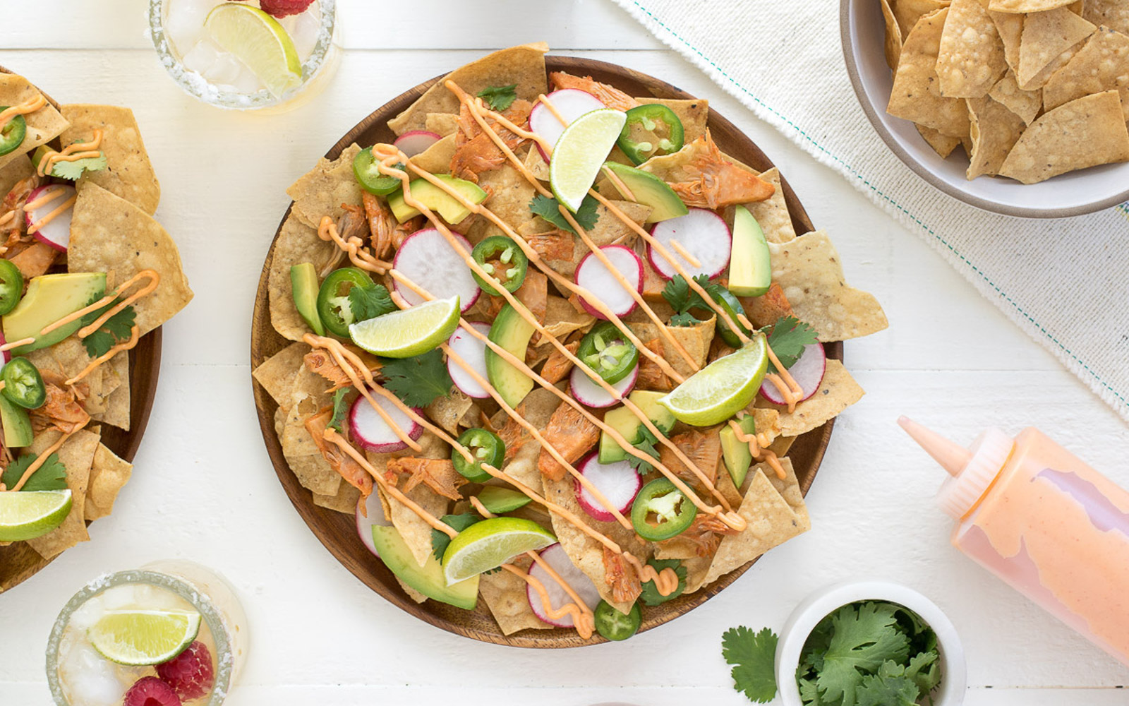 Chili Lime Jackfruit Nachos
