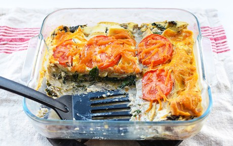 Creamy 3-Cheese Lasagna [Vegan]
