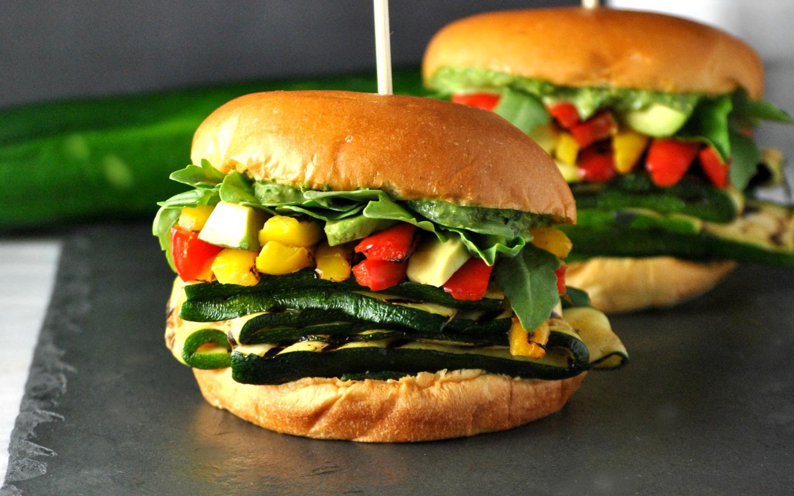 Pesto Veggie Sandwiches