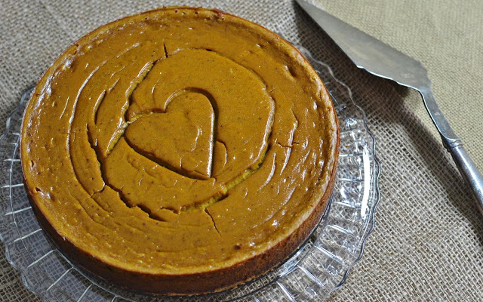 Pumpkin Almond Cheesecake