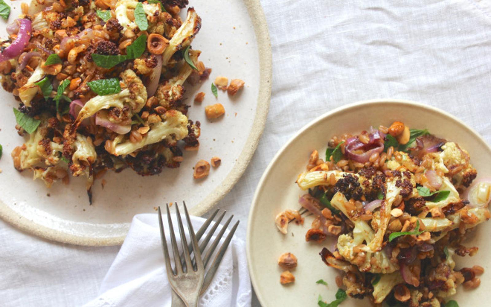 Roasted Cauliflower Spelt Za'atar Bowls 1