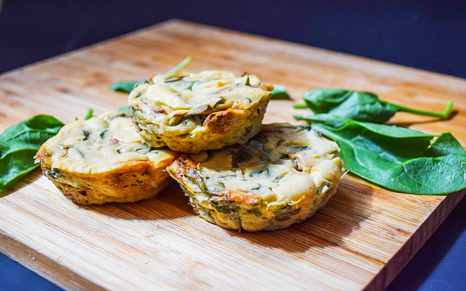 Spinach and Sun-Dried Tomato Crustless Quiches 1