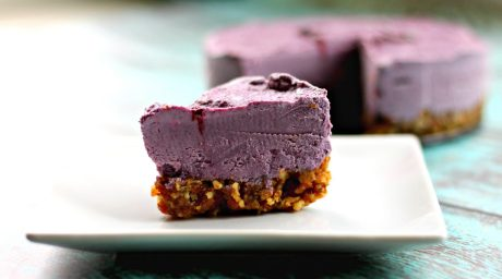 Blackberry Lemon Lavender Cheezecake [Vegan]