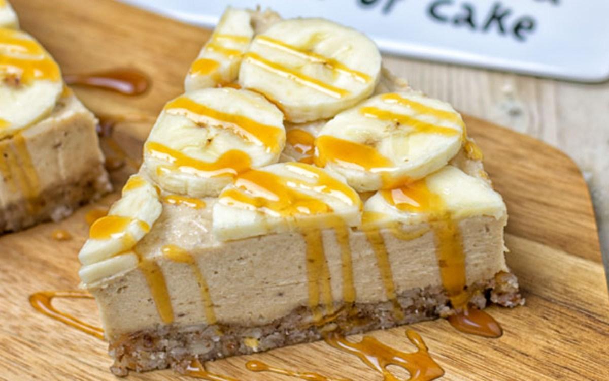 vegan lemon banana cashew cream pie