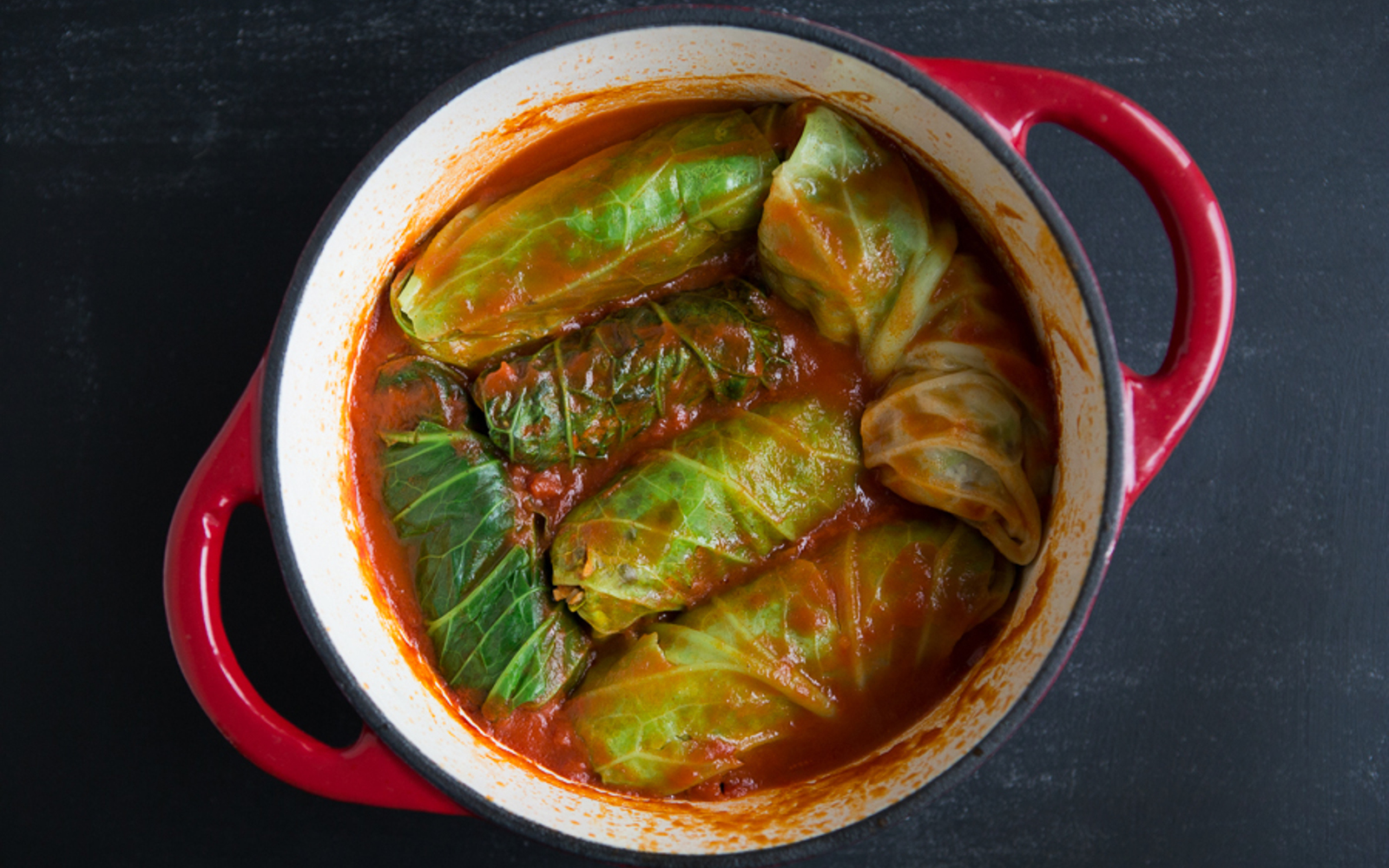 Vegan Lentil Stuffed Cabbage Rolls
