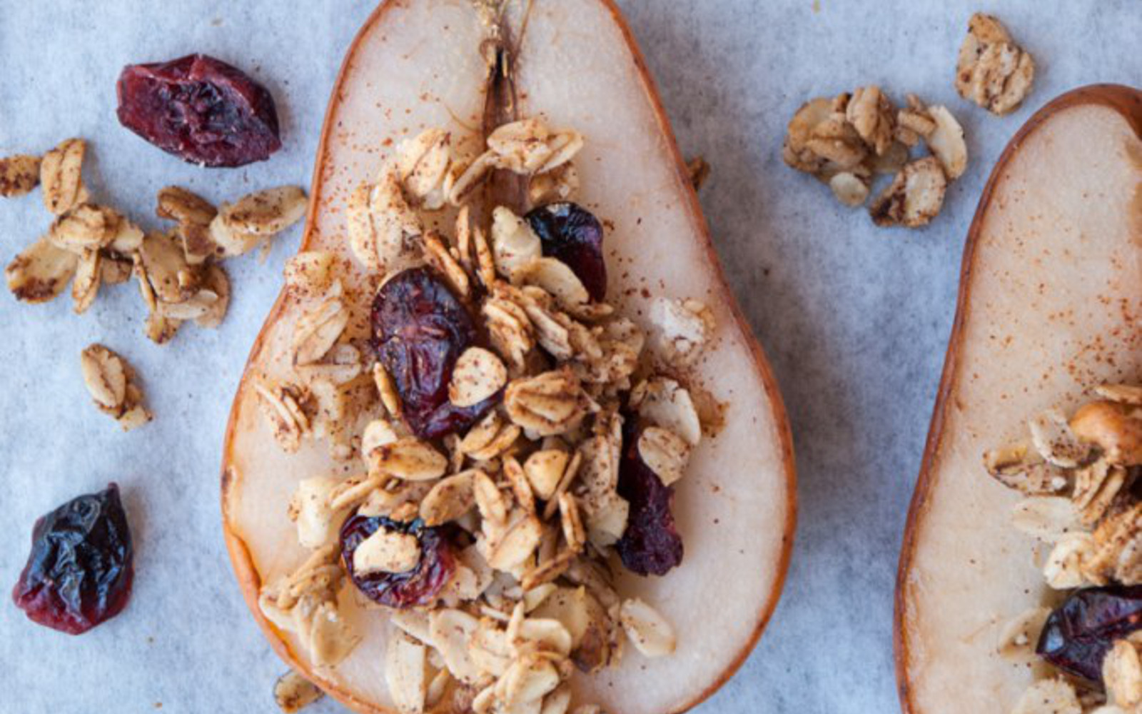 Maple Oat and Nut Baked Pears 1