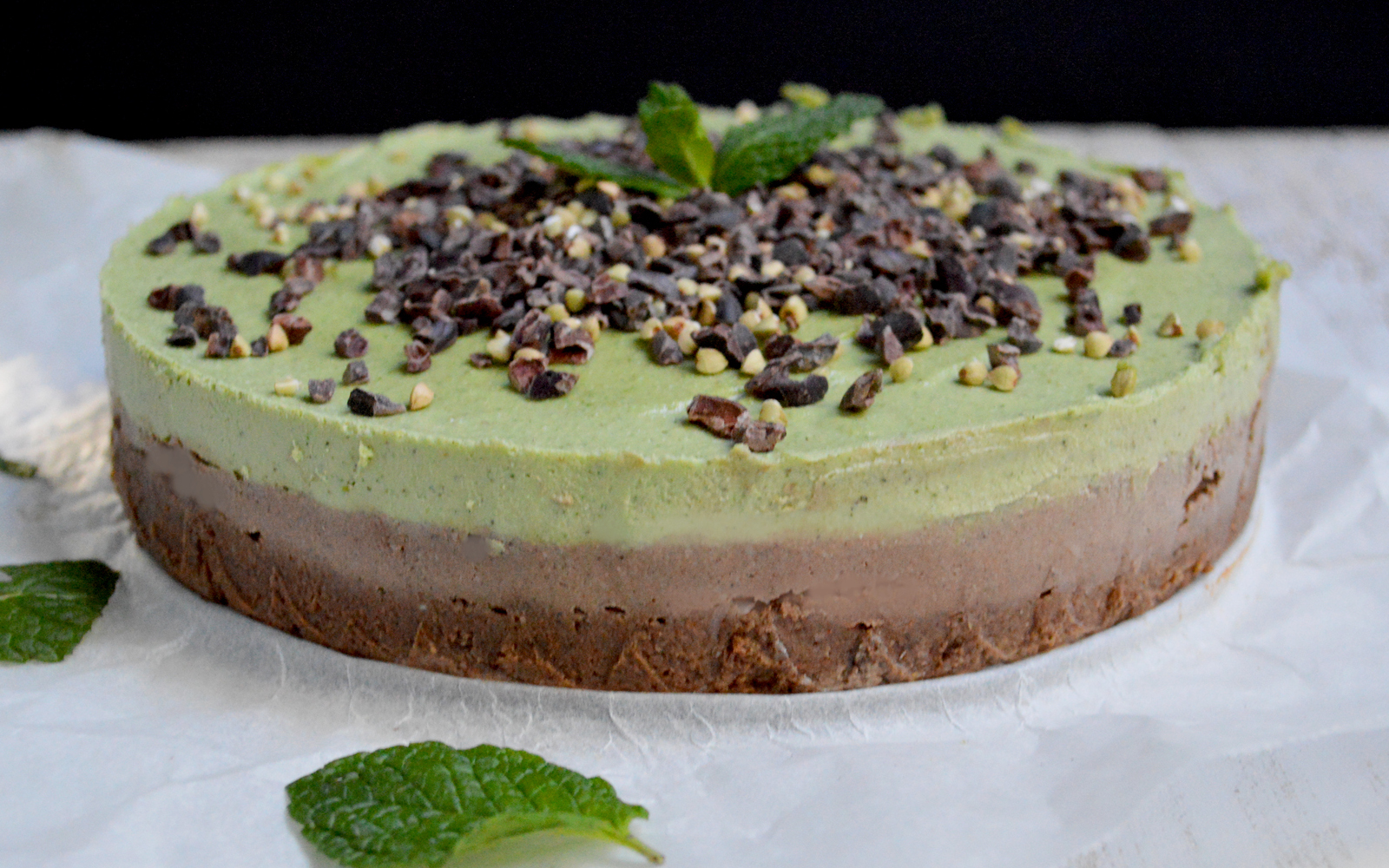 Raw Cacao Mint Cheesecake