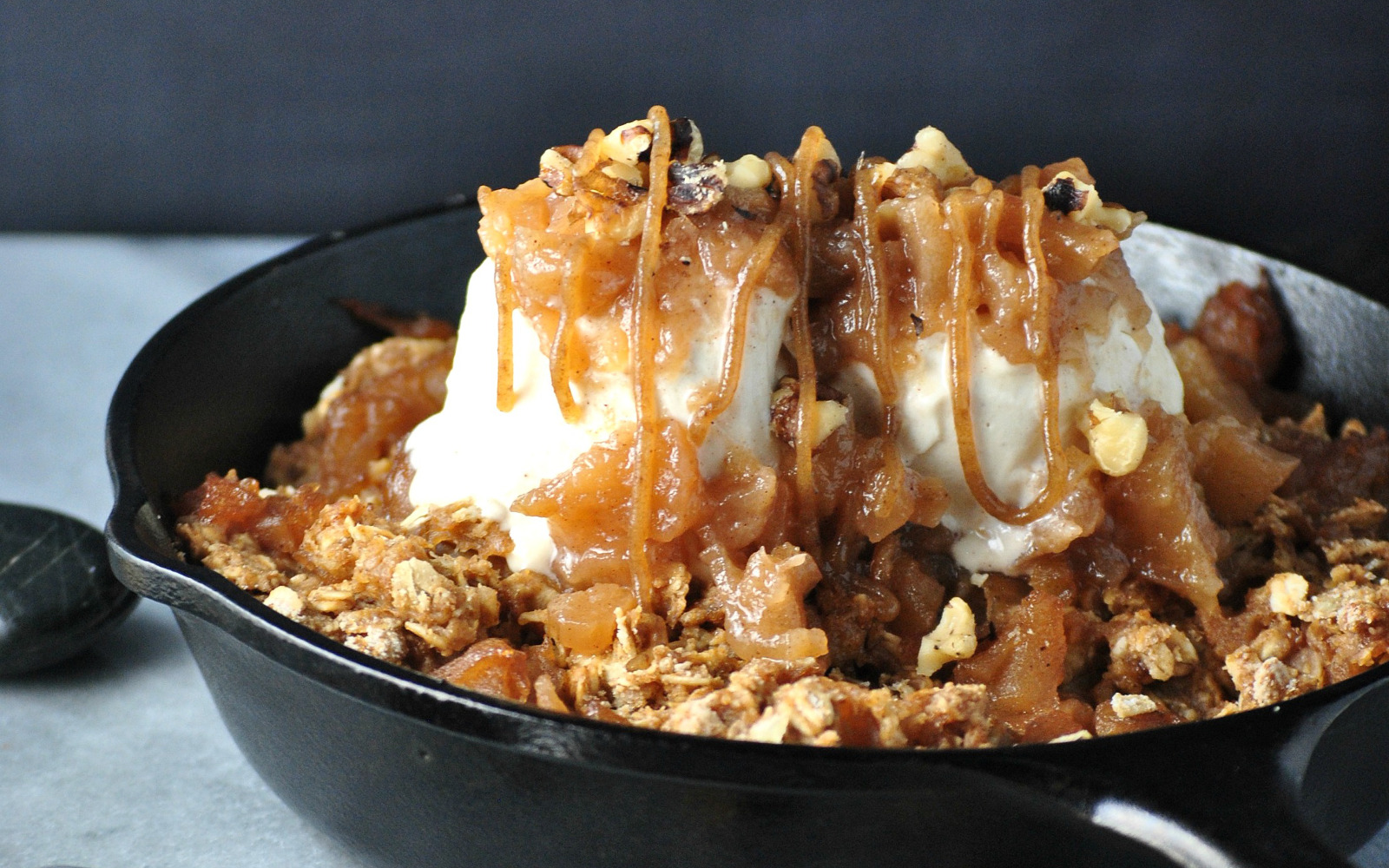 Skillet Apple Crisp With Date Caramel 1
