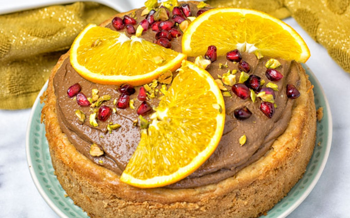 Vegan Avocado Mousse Carrot Cake