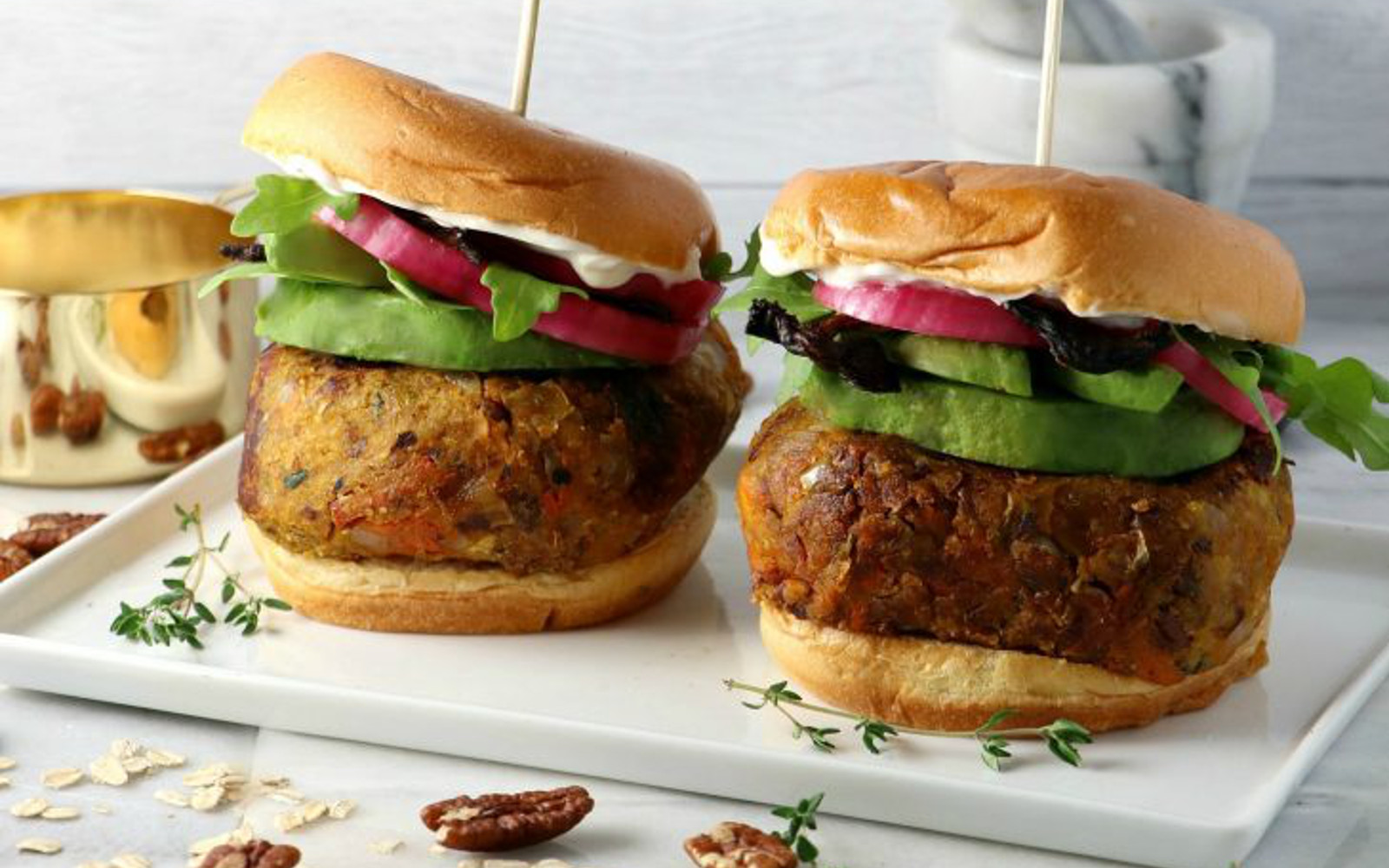 Vegan Butternut Squash Burger