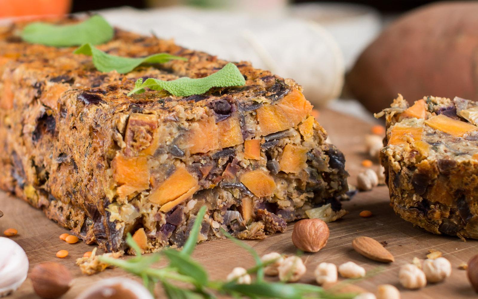 Lentil Potato Nut Loaf [Vegan, Gluten-Free]