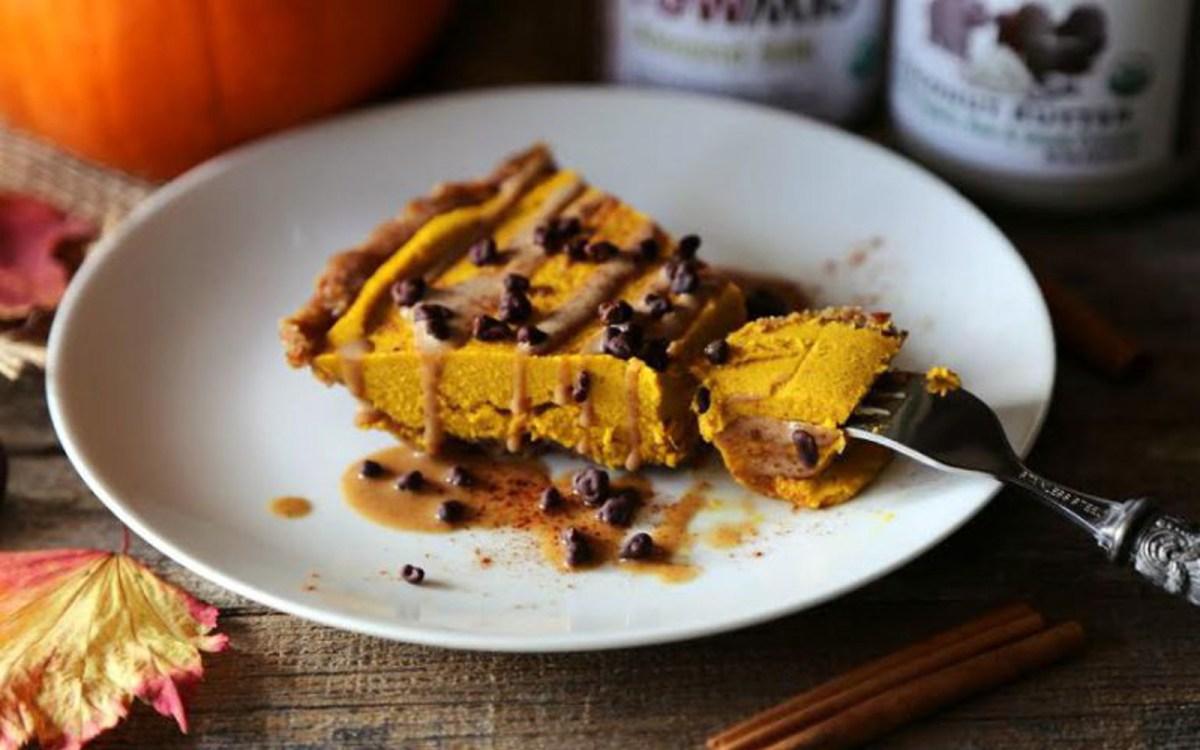 Raw Pumpkin Pie Cheesecake [Vegan, Gluten-free]