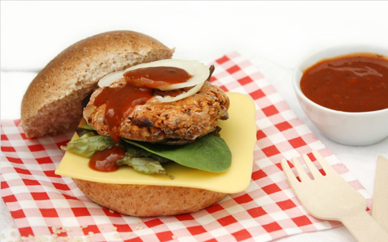 Vegan Black-Eyed Pea Burgers With Sugar-Free BBQ Sauce