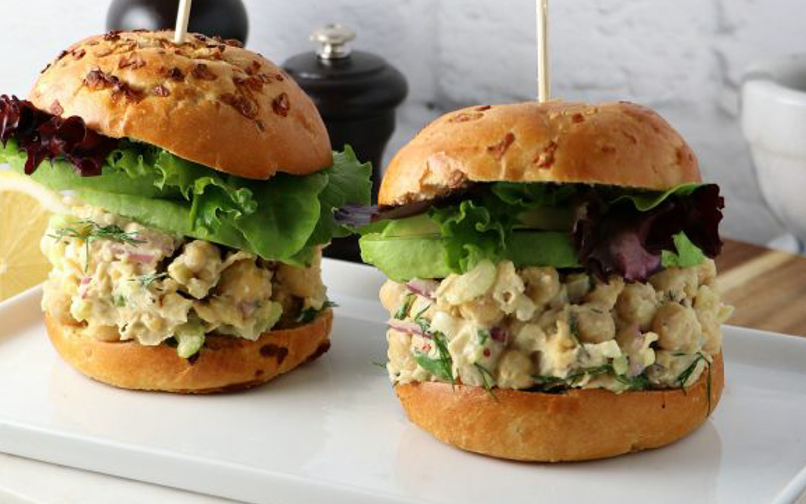 Chickpea Salad Sandwiches With Dill Celery