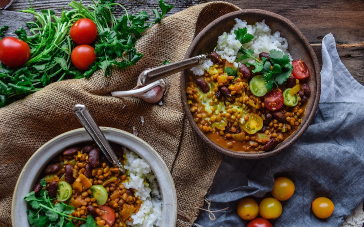 Kidney Bean and Lentil Curry