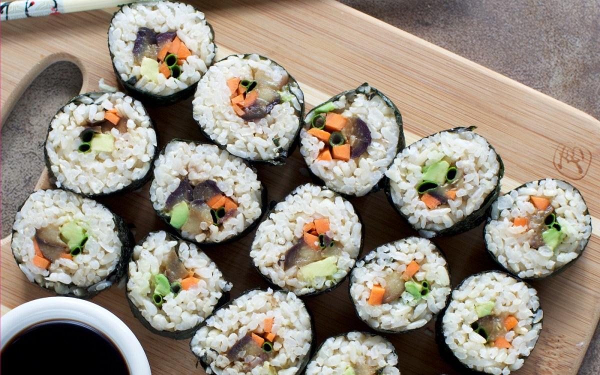 Vegan Miso Eggplant Sushi