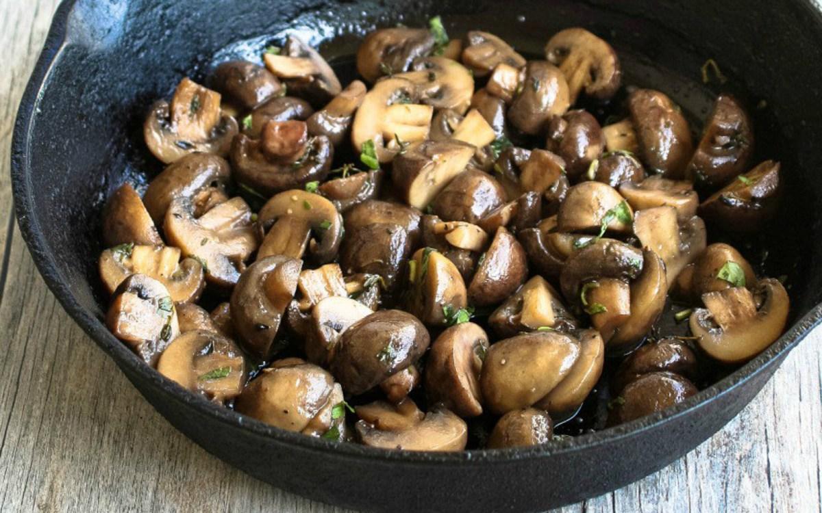 Vegan Beer Butter Mushrooms