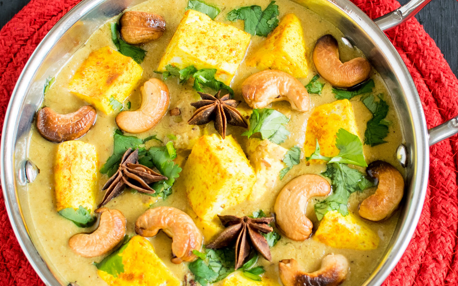 Vegan Turmeric Tofu Cashew Curry