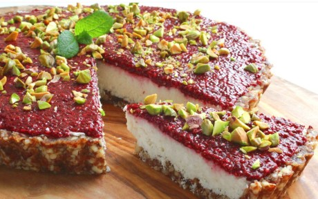 Coconut Tart With Chia Cherry Jam