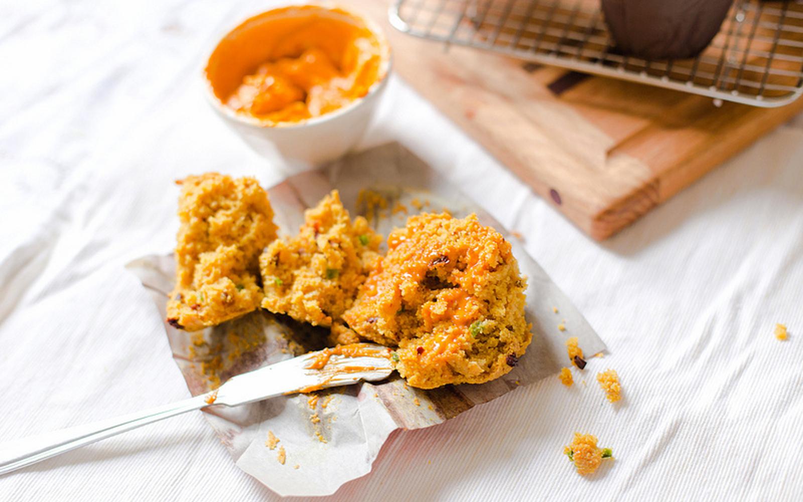 Cornbread Muffins With Harissa Butter b