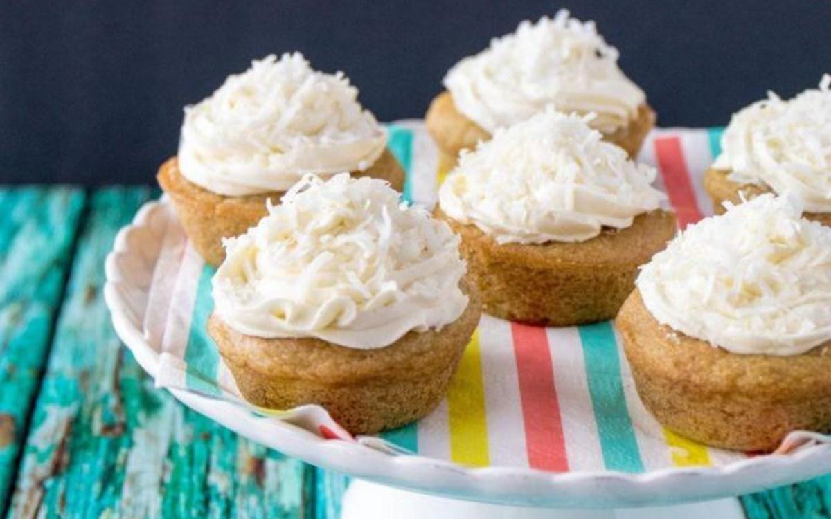 Pandan Coconut Cupcakes [Vegan, Gluten-Free]