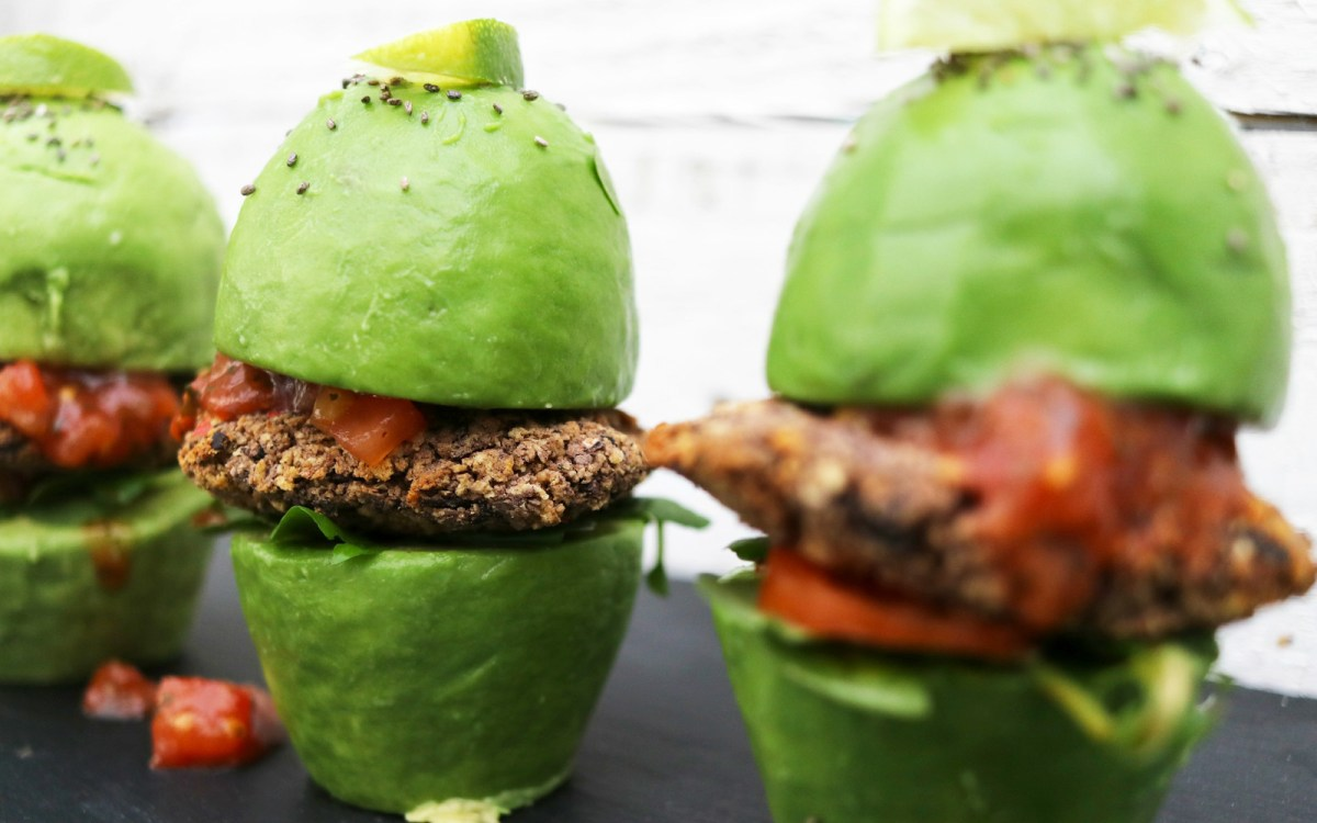 Avocado Bun Black Bean Burgers