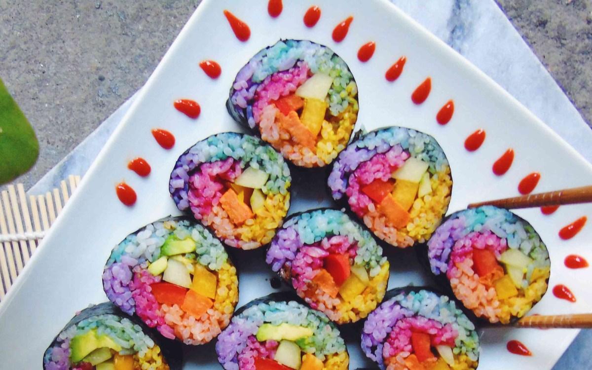 Αποτέλεσμα εικόνας για rainbow sushi
